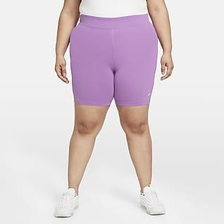 Nike Sportswear Essential Γυναικείο σορτς ποδηλασίας μεσαίου ύψους (μεγάλα μεγέθη)