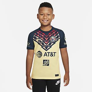 Club América 2021/22 Stadium Home Big Kids' Soccer Jersey