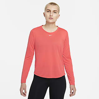 Nike Dri-FIT One Langærmet top med standardpasform til kvinder