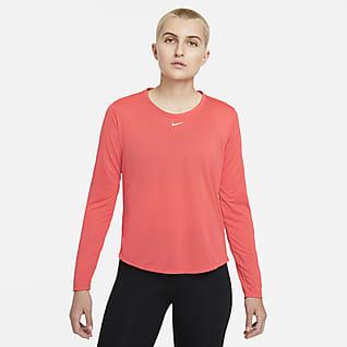 Nike Dri-FIT One Långärmad tröja med standardpassform för kvinnor