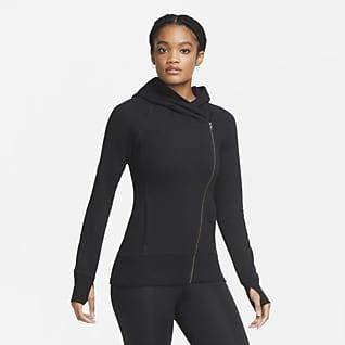 Nike Yoga Sudadera con capucha de cierre completo para mujer