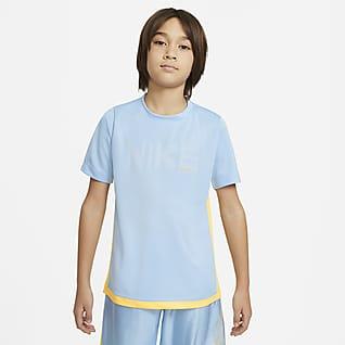 Nike Trophy เสื้อแขนสั้นเด็กโตมีกราฟิก (ชาย)