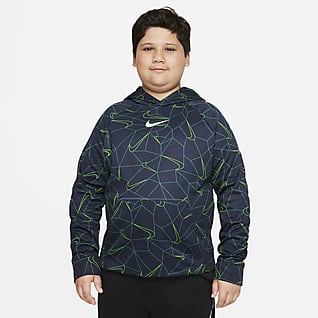 Nike Therma-FIT Big Kids' (Boys') Printed Pullover Hoodie (Extended Size)