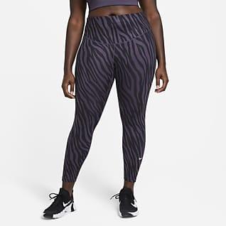 Nike One Icon Clash 7/8-leggings med print til kvinder (plus size)