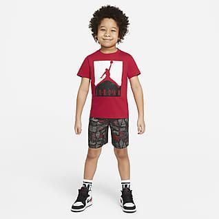 Jordan Conjunto de playera y shorts para niños talla pequeña