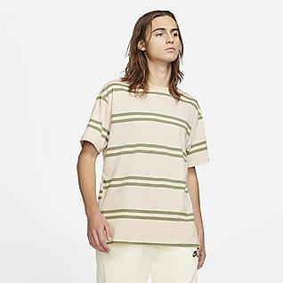 Nike SB Çizgili Erkek Kaykay Tişörtü