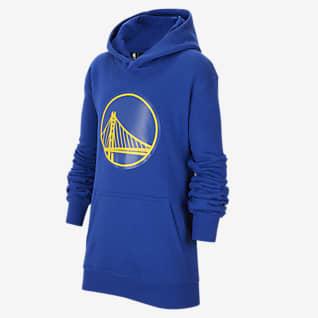 Golden State Warriors Essential Mikina Nike NBA s kapucí pro větší děti