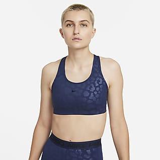 Nike Pro Dri-FIT Swoosh Women's Medium-Support Leopard Sports Bra