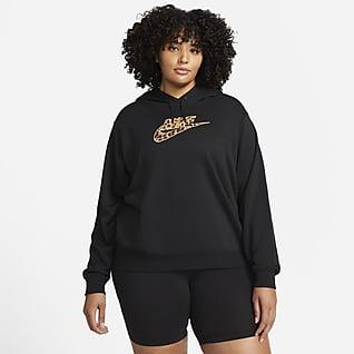 Nike Sportswear Sudadera con capucha de tejido Fleece para mujer (talla grande)
