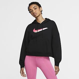 Nike Sportswear เสื้อมีฮู้ดผ้าฟลีซผู้หญิง