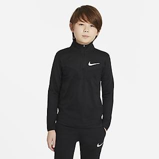 Nike Sport Langermet treningsoverdel til store barn (gutt)
