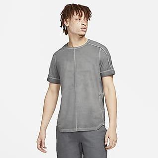 Nike Yoga Farbowana męska koszulka z krótkim rękawem