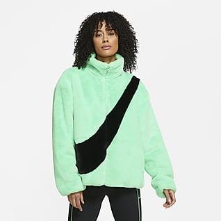 Nike Sportswear เสื้อแจ็คเก็ตขนสัตว์สังเคราะห์ผู้หญิง