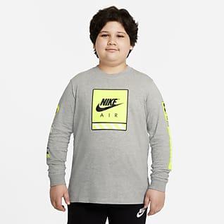 Nike Sportswear Big Kids' (Boys') Long-Sleeve T-Shirt (Extended Size)