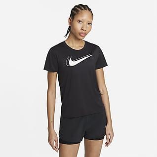 Nike Dri-FIT Swoosh Run Γυναικεία μπλούζα για τρέξιμο