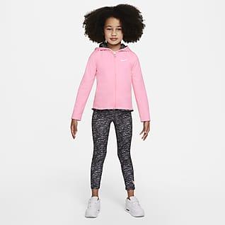 Nike Conjunto de sudadera con gorro y leggings para niños talla pequeña para niños talla pequeña