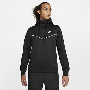 Nike Sportswear Huvtröja med halv dragkedja för män