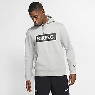 Nike F.C. Fotbollshuvtröja i fleece för män