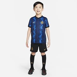 Домашняя форма ФК «Интер Милан» 2021/22 Футбольный комплект для дошкольников