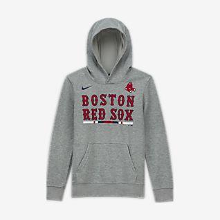 Nike Club Fleece (MLB Boston Red Sox) Big Kids' (Boys') Pullover Hoodie