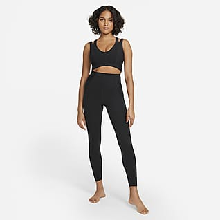 Nike Yoga Luxe Dri-FIT Gerippte Infinalon Jumpsuit für Damen