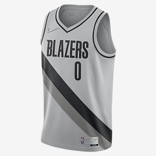 Damian Lillard Trail Blazers Earned Edition Men's Nike NBA Swingman Jersey