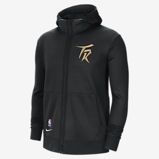 Toronto Raptors Showtime City Edition Sudadera con capucha de la NBA Nike Therma Flex para hombre