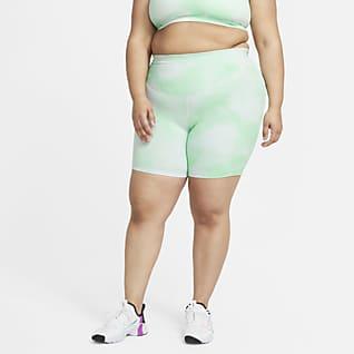 "Nike One Icon Clash Women's 7"" Tie-Dye Printed Shorts (Plus Size)"