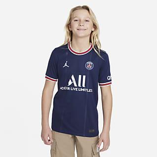 Paris Saint-Germain 2021/22 Stadium (wersja domowa) Koszulka piłkarska dla dużych dzieci