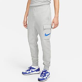 Nike Sportswear Court Cargobyxor i fleece för män