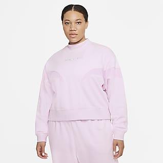 Nike Air Женские флисовый свитшот с воротником-стойкой (большие размеры)