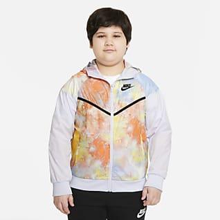 Nike Sportswear Windrunner Big Kids' (Boys') Tie-Dye Jacket (Extended Size)