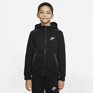 Nike Air Mikina s kapucí a zipem po celé délce pro větší děti (chlapce)