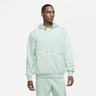 Nike Standard Issue Kapucnis, belebújós, kosaras polár férfipulóver
