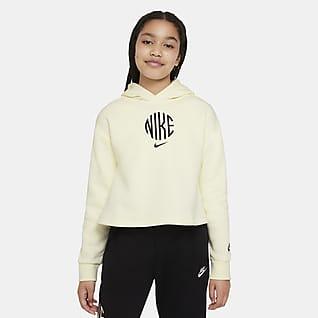 Nike Sportswear Sudadera con gorro de French Terry para niña talla grande
