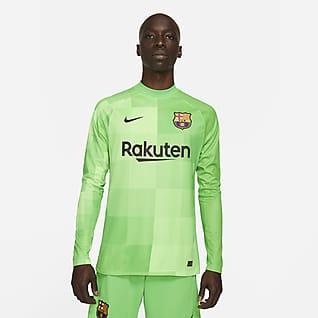 FC Barcelona 2021/22 Stadium Goalkeeper Langærmet fodboldtrøje til mænd