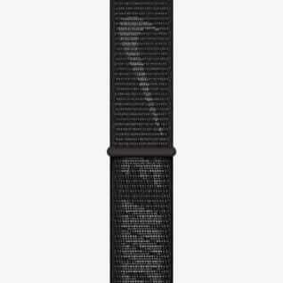Zwart (45 mm) Geweven sportbandje van Nike (standaard)