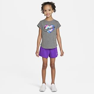 Nike Conjunto de playera y shorts de teñido batik para niños talla pequeña