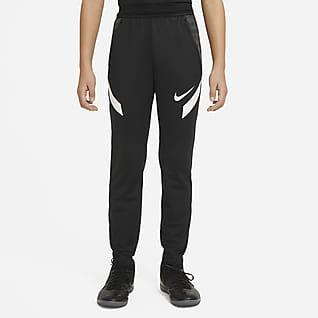 Nike Dri-FIT Strike Pletené fotbalové kalhoty pro větší děti