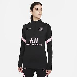 Paris Saint-Germain Strike Away Nike Dri-FIT Fußball-Drill-Oberteil für Damen