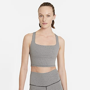Nike Yoga 女款短版格紋背心