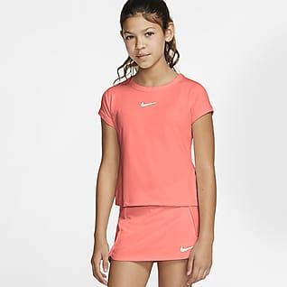 NikeCourt Dri-FIT Tenisové tričko pro větší děti (dívky)