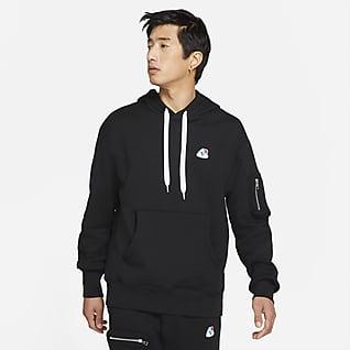 Nike Sportswear เสื้อมีฮู้ดผ้าเฟรนช์เทรีผู้ชายแบบสวม
