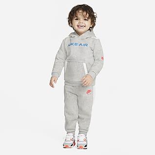 Nike Air Conjunto de sudadera con capucha y pantalones de entrenamiento para bebé (12-24M)