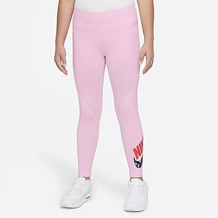 Nike Sportswear Favorites Big Kids' (Girls') High-Waisted Graphic Leggings (Extended Size)