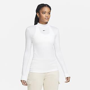 Nike Sportswear Haut à manches longues et col montant pour Femme