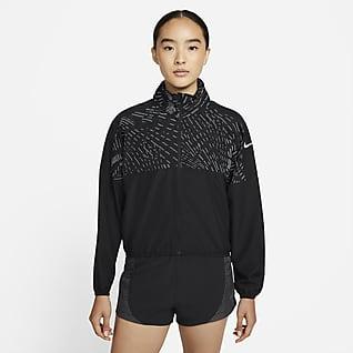 Nike Dri-FIT Run Division เสื้อแจ็คเก็ตวิ่งสะท้อนแสงผู้หญิง