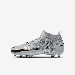 Nike Jr. Phantom Scorpion Academy Dynamic Fit MG รองเท้าสตั๊ดฟุตบอลเด็กโต/เล็กสำหรับพื้นหลายประเภท