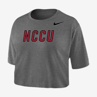 Nike College Dri-FIT (North Carolina Central) Playera cropped para mujer