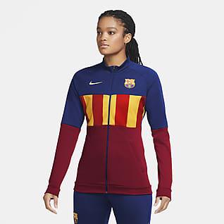 FC Barcelona Anthem Chamarra de entrenamiento de fútbol para mujer